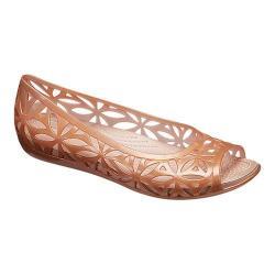 Women's Crocs Isabella Jelly II Flat Dark Gold/Gold