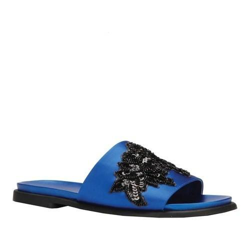 a9acb27d989 Shop Women s Kenneth Cole Reaction Jel-Ous Slide Cobalt Satin - On Sale -  Free Shipping Today - Overstock.com - 20187219