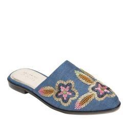 Women's Kenneth Cole Reaction Speed Floral Flat Mule Blue Denim