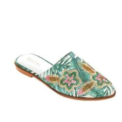 Women's Kenneth Cole Reaction Speed Floral Flat Mule Multi Printed Fabric