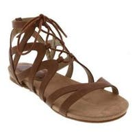 Women's Bellini Nickel Lace Up Gladiator Sandal Tan Polyurethane