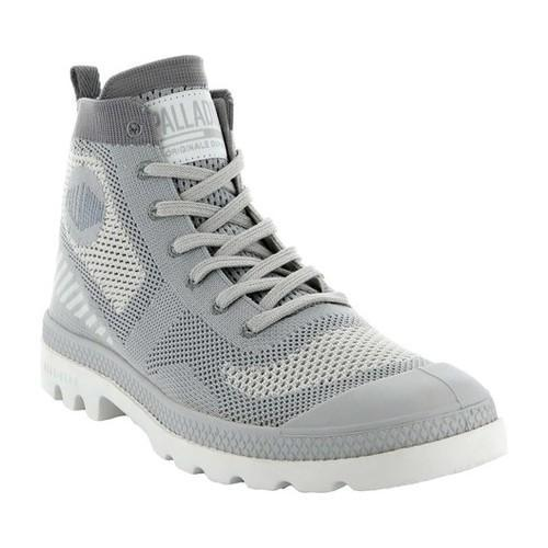 Women's Palladium Pampa Hi Lite Ankle Boot Lily White/Lily White Knitted Textile by Palladium