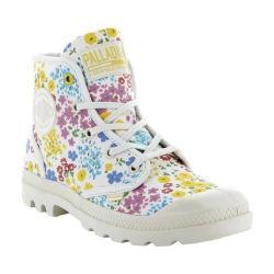 Women's Palladium Pampa Hi P Ankle Boot Sahara/Marshmallow/Rose Tan Jacquard