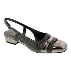 Women's Ros Hommerson Tempt Slingback Silver Glitter/Metallic