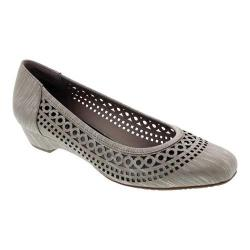 Women's Ros Hommerson Tina Flat Taupe Laser Stripe Fabric - Thumbnail 0