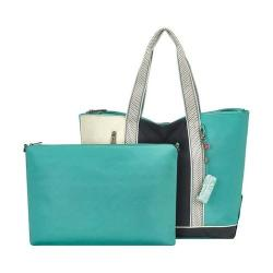 Women's Sakroots New Adventure Finch Large Tote Seafoam Colorblock
