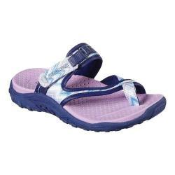 Girls' Skechers Reggae Summers Toe Loop Sandal Navy/Lavender