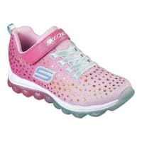 Girls' Skechers Skech-Air Star Jumper Sneaker Pink/Aqua