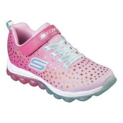 Girls' Skechers Skech-Air Star Jumper Sneaker Pink/Aqua