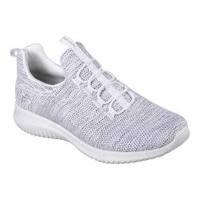 Women's Skechers Ultra Flex Capsule Bungee Lace Sneaker White/Black