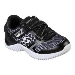 Boys' Skechers Ultrapulse Z Strap Sneaker Black/White