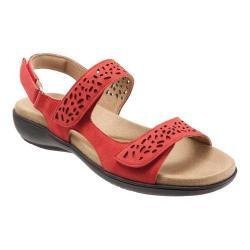 Women's Trotters Tamara Strappy Sandal Red Embossed Leather