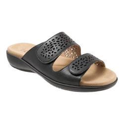 Women's Trotters Tokie Slide Black Burnished Leather