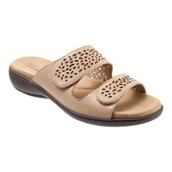 Women's Trotters Tokie Slide Cement Burnished Leather