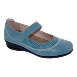 Women's Drew Genoa Mary Jane Blue Microdot Leather