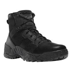 Men's Danner Scorch Side-Zip 6in Work Boot Black Hot Leather/Textile/Synthetic