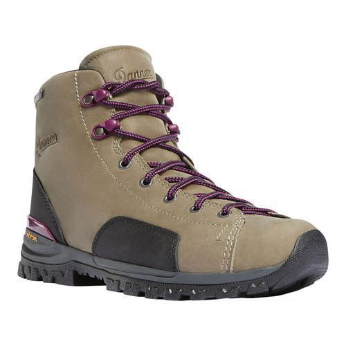 Women's Danner Stronghold 5in Work Boot Gray Full Grain Leather