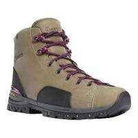 Women's Danner Stronghold 5in Non-Metallic Toe Work Boot Gray Full Grain Leather