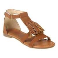 Girls' Jelly Beans Too Tassel T-Strap Sandal - Big Kid Camel