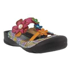 Women's L'Artiste by Spring Step Icaria Clog Navy Multi Leather - Thumbnail 0