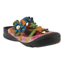 Women's L'Artiste by Spring Step Icaria Clog Red Multi Leather