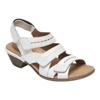 Women's Rockport Cobb Hill Verona Strappy Sandal White Leather