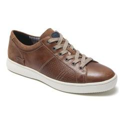 Men's Rockport Colle Tie High Top Sneaker Tan Leather