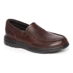 Men's Rockport Eureka Plus Slip-On Dark Brown Leather