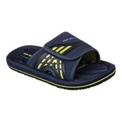 Boys' Skechers Laser Slide Sandal Navy/Lime