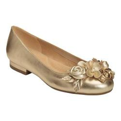 Women's Aerosoles Do Good Flat Gold Leather