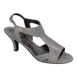Women's Ros Hommerson Lucky Slingback Sandal Silver Irridescent Fabric