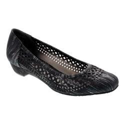Women's Ros Hommerson Tina Flat Black Laser Stripe Fabric