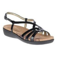 Women's Soft Style Patrese Slingback Sandal Black Patent Synthetic