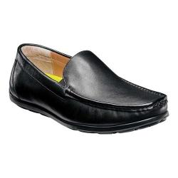 Men's Florsheim Draft Moc Toe Venetian Driver Black Smooth Leather