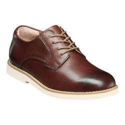 Boys' Florsheim Kearny Plain Toe Oxford Jr. II Brown Smooth Leather