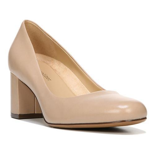 0c1d6b816bee Shop Women s Naturalizer Whitney Pump Taupe Leather - Free Shipping Today -  Overstock - 20223670