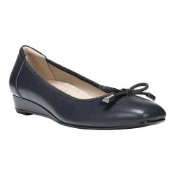 Women's Naturalizer Dove Slip On Wedge Navy Leather/Fabric