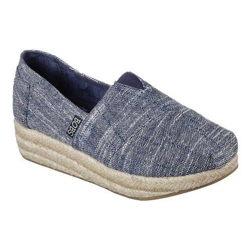 skechers bobs highlights women's wedge shoes