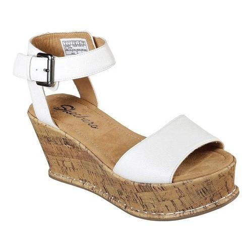 2d5744c80c2 Shop Women s Skechers Fevers Over Heat Platform Wedge Sandal White - Free  Shipping Today - Overstock - 20223713