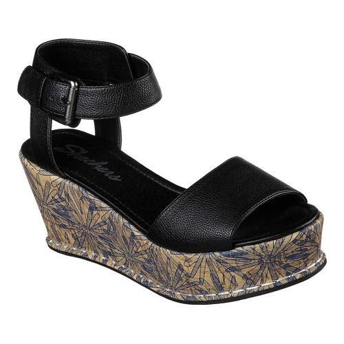 80cfe0a85a1 Shop Women s Skechers Fevers Platform Wedge Sandal Black - Free Shipping  Today - Overstock - 20223714