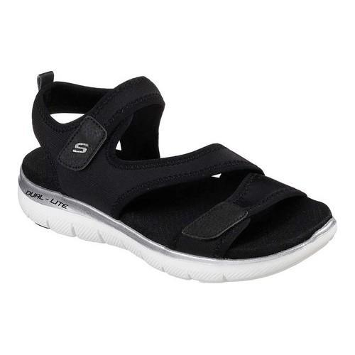 f0a51c1530a5 Shop Women s Skechers Flex Appeal 2.0 Summer Patrol Sport Sandal Black -  Free Shipping On Orders Over  45 - Overstock - 20223717