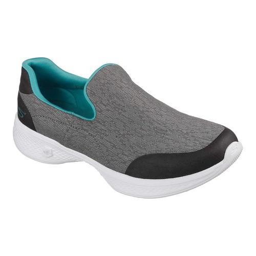 d72da43a1069 ... discount 214d5 055cf Womenx27s Skechers GOwalk 4 Exuberance Slip-On  Walking Shoe Gray ...