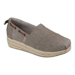 Women's Skechers BOBS Highlights Ocean Spell Espadrille Dark Taupe