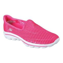 Girls' Skechers GOwalk 2 Breezy Beauties Walking Shoe Hot Pink