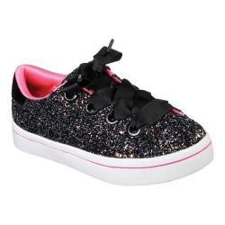 Girls' Skechers Hi-Lites Glitz N Glam Sneaker Black/Hot Pink