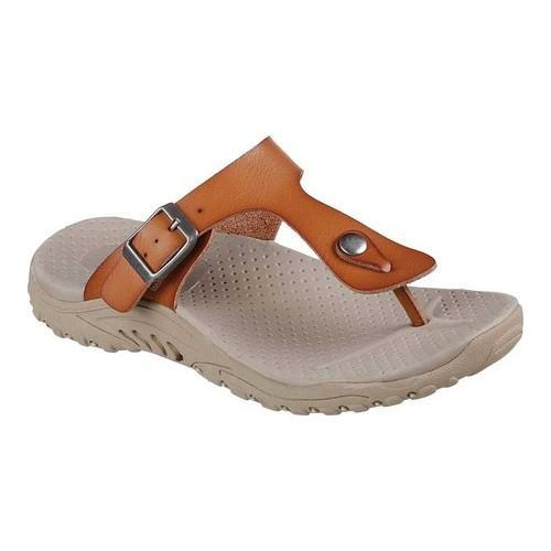 304e0cb2fe60 Shop Women s Skechers Reggae Clay Thong Sandal Tan - Free Shipping Today -  Overstock - 20223779
