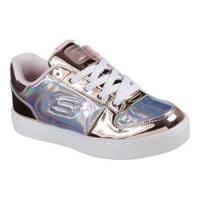 Children's Skechers S Lights Energy Lights Shiny Sneaks Sneaker Rose Gold