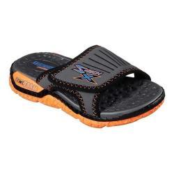 Boys' Skechers Skech-X Astrozoid Lolox Slide Sandal Charcoal/Orange