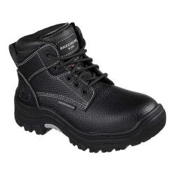 Women's Skechers Work Burgin Krabok Steel Toe Boot Black