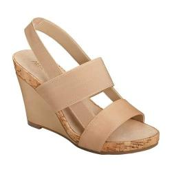 Women's Aerosoles Magnolia Plush Slingback Sandal Light Tan Faux Leather/Elastic (3 options available)